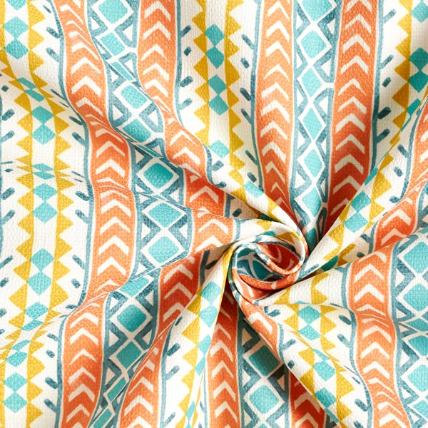 Tissu d'extérieur Rayures ethniques – orange