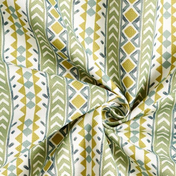 Tissu d'extérieur Rayures ethniques – vert