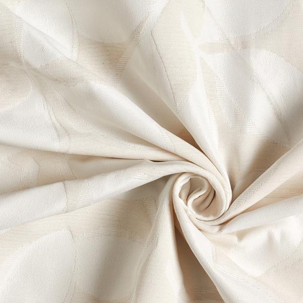 Tissu de décoration Jacquard Feuilles – crème