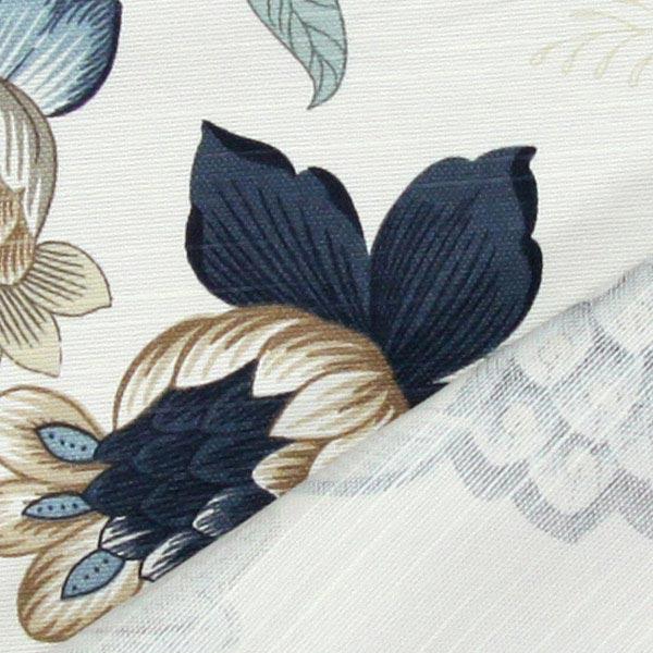 Deko- und Polsterstoff große Blüten 280 cm – blau