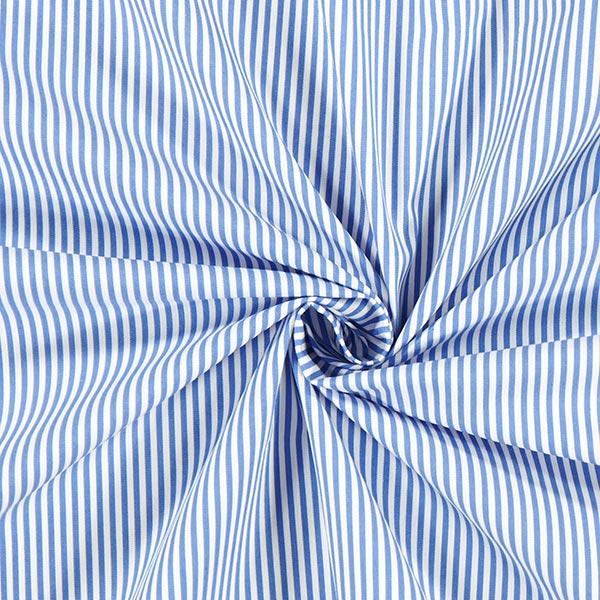 Tissu en coton stretch Rayures – bleu clair/blanc