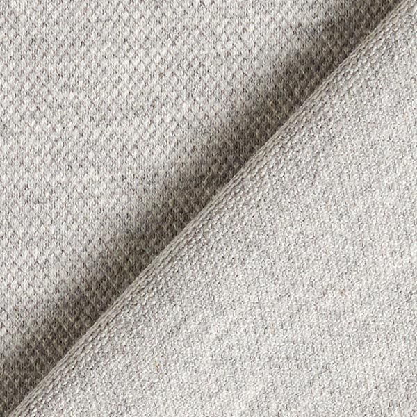 Jersey coton Piqué fin – gris