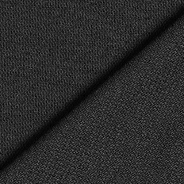 Jersey coton Piqué fin – noir