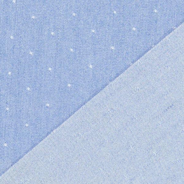 Chambray Aspect jean Pois – bleu bébé