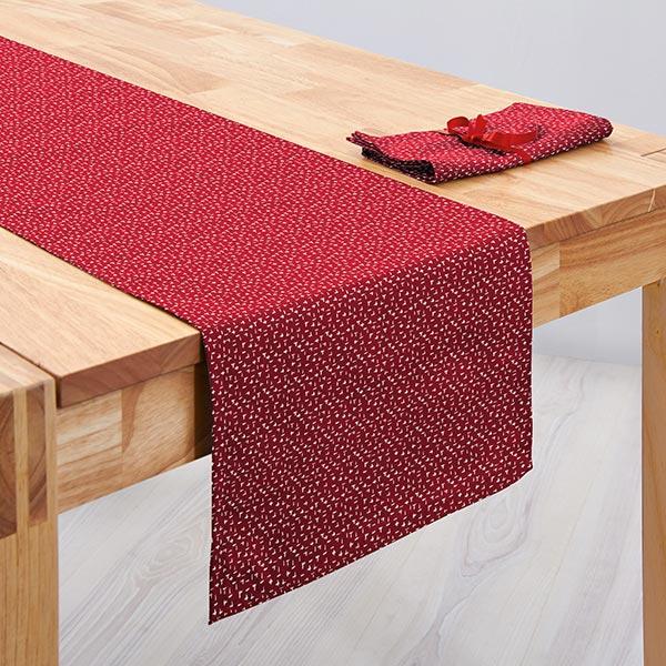 Tissu en coton Popeline Traits de pinceau – rouge