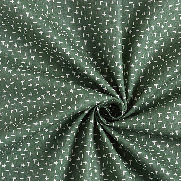 Tissu en coton Popeline Traits de pinceau – vert foncé