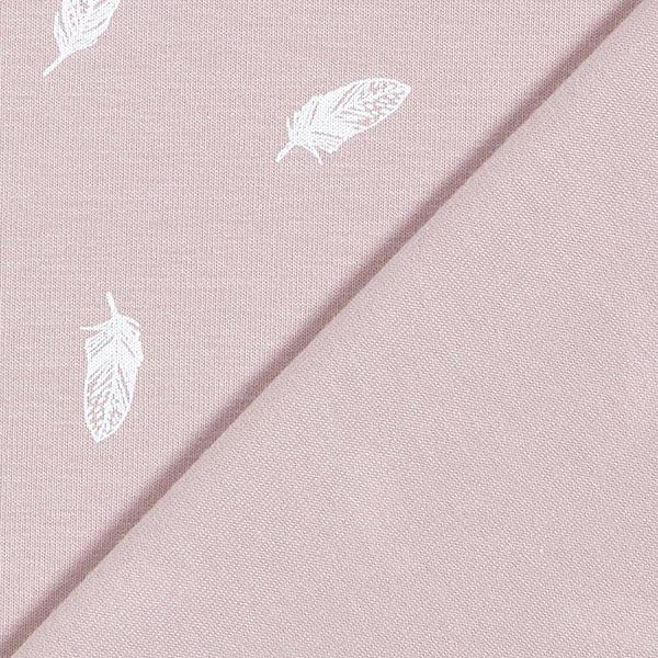 Jersey coton Plumes – violet pastel