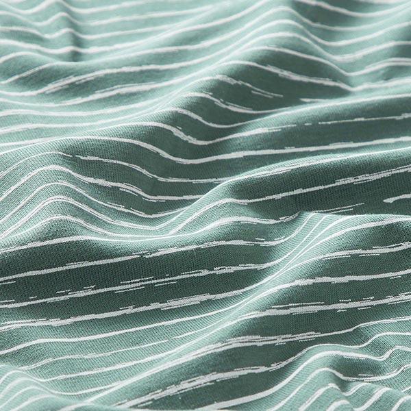 Jersey coton Bandes de gribouillage – roseau