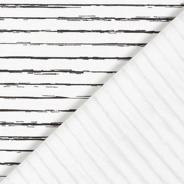 Baumwolljersey Skribbel-Streifen – wollweiss