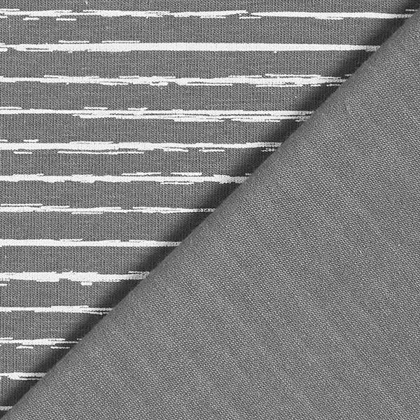 Baumwolljersey Skribbel-Streifen – dunkelgrau
