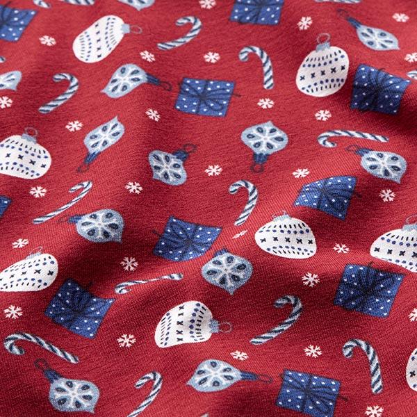 Jersey coton Décoration de sapin de Noël – carmin