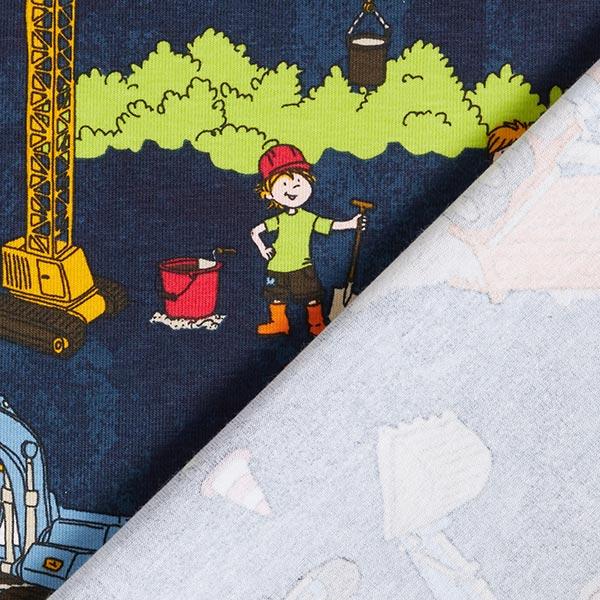 Jersey coton Chantier – bleu marine