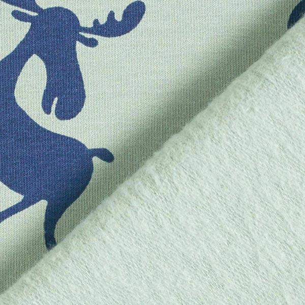 Sweatshirt gratté Fête élan – pistache