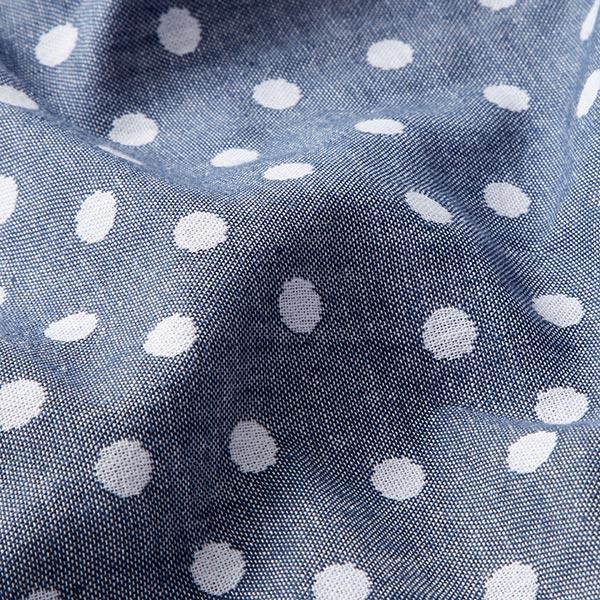Double face Jacquard Tissu coton Points – bleu jean/blanc
