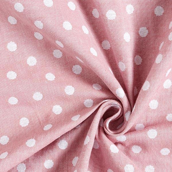 Double face Jacquard Tissu coton Points – vieux rose/blanc