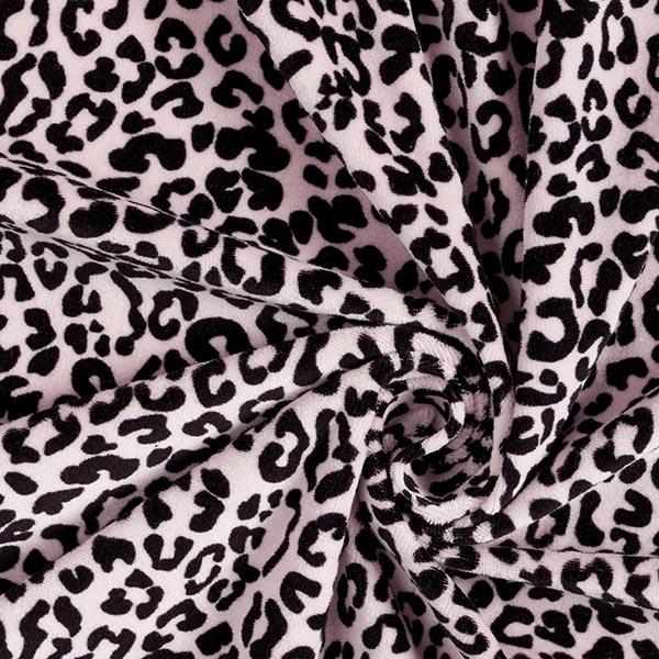 Tissu velours Nicki biologique Taches léopard – rose