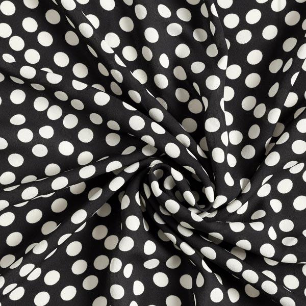 Crêpe Georgette Points – noir/écru