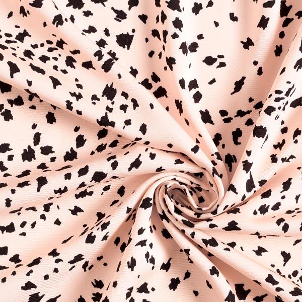 Sergé de viscose petites taches – rose clair/noir