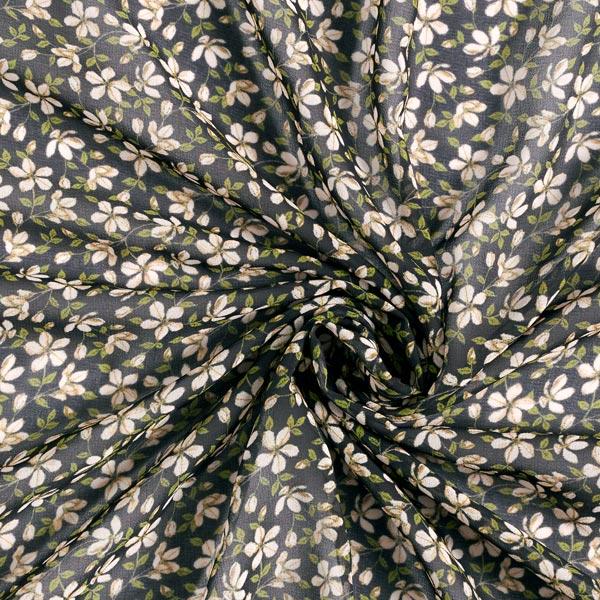 Chiffon fleurs magiques – noir/vert