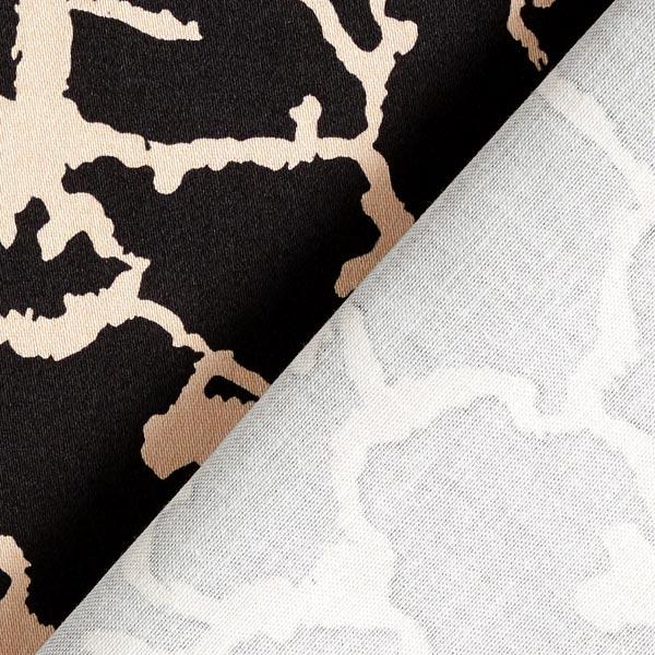 Tissu pour pantalon coton stretch fissures – noir/beige clair