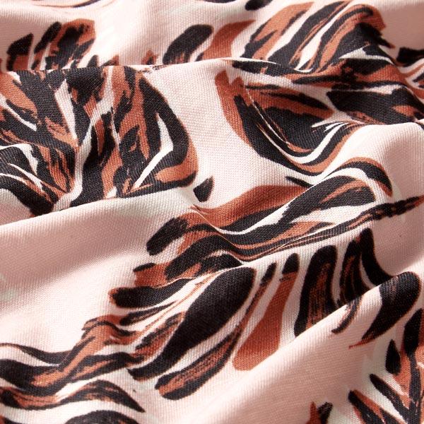 Tissu pour robes et chemisiers feuilles de palmier – rose