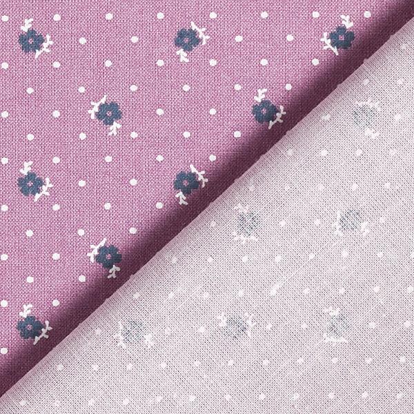 Tissu pour chemisier Fleurs à pois – lilas rouge