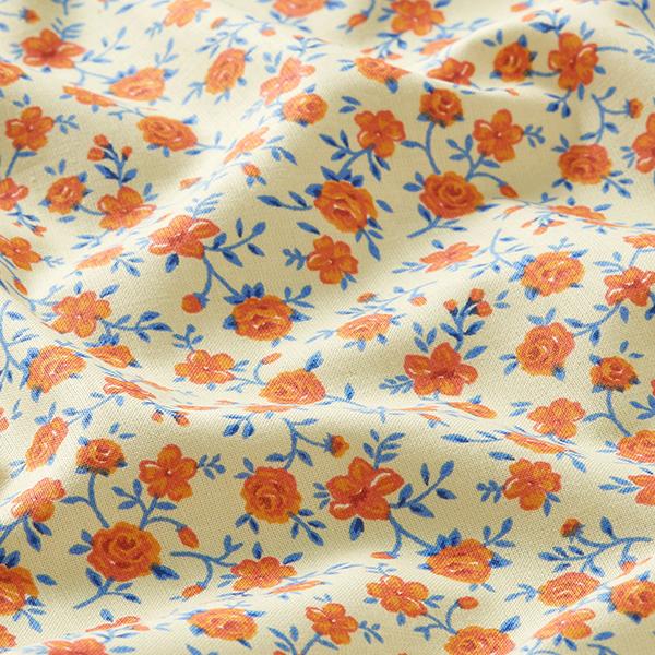 Tissu pour chemisier Roses – jaune clair/orange