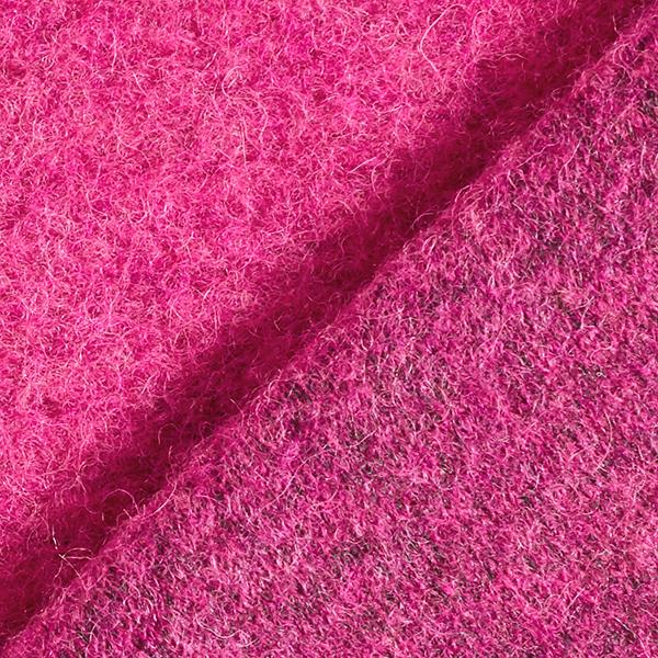 Tissu maille moelleux Laine mélangée – rose vif