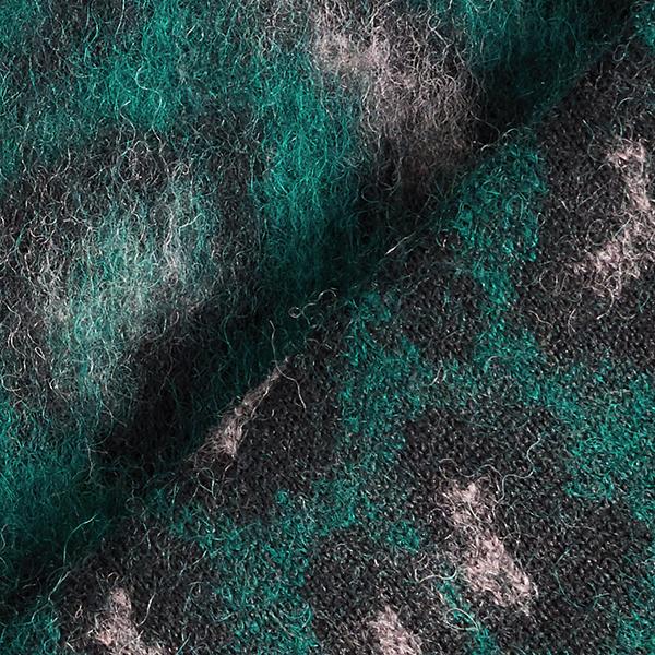 Tissu maille moelleux Léopard – vert foncé