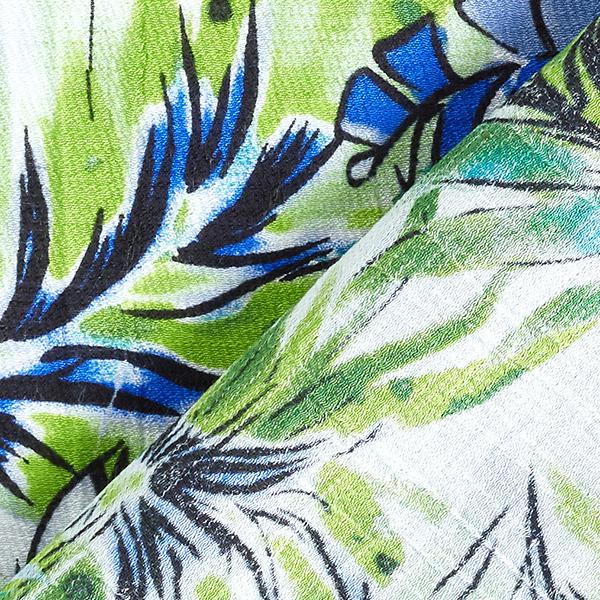 Tissu pour chemisier Crêpe Tropicana – bleu/vert