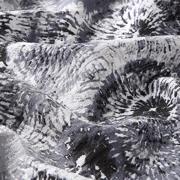 Tissu pour chemisier Crêpe Cercles Batik – gris