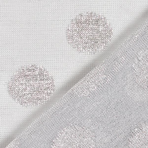 Jersey scintillant semi-transparent Points – argent