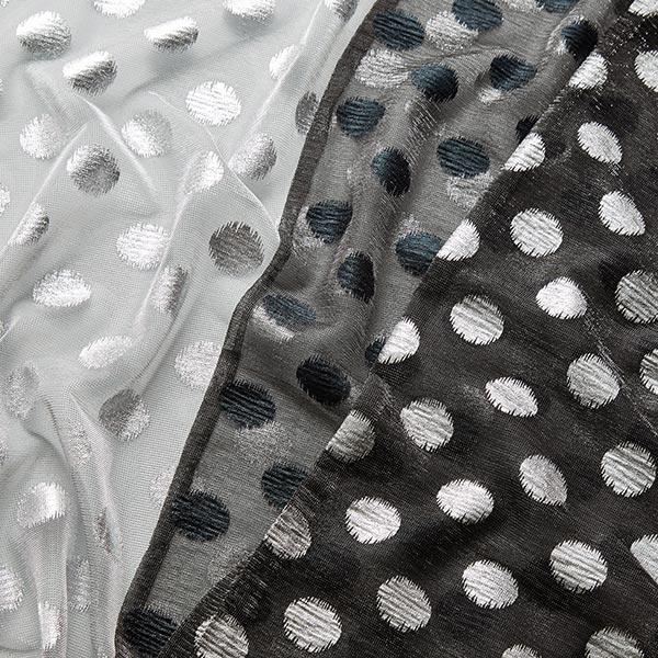 Jersey scintillant semi-transparent Points – anthracite/noir