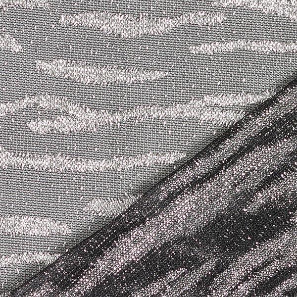Jersey scintillant semi-transparent Zèbre – anthracite/argent