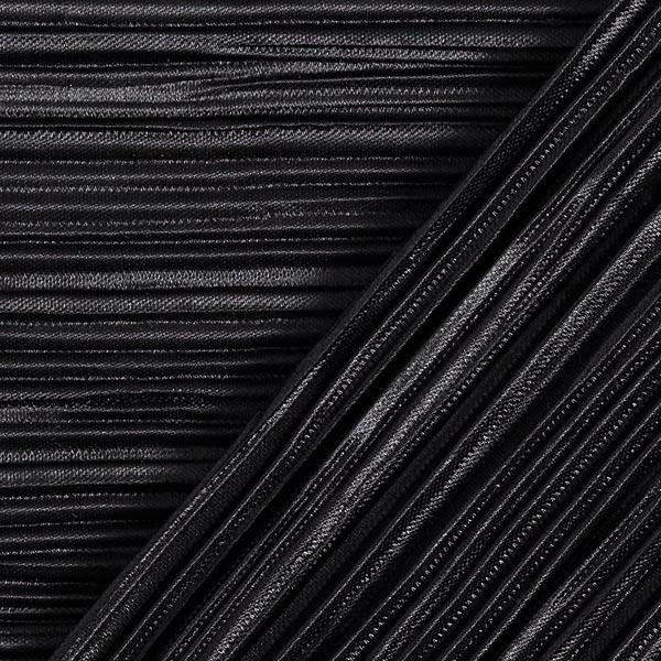 Jersey plissé Uni – noir