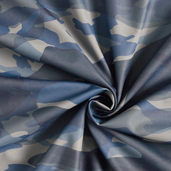 Similicuir Camouflage – bleu marine