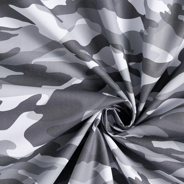 Similicuir Camouflage – gris