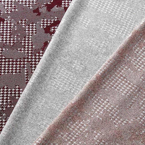 Léger tissu maille metallic Camouflage – rouge bordeaux/argent