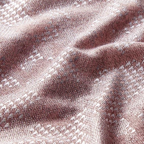 Léger tissu maille metallic Camouflage – rosé/argent