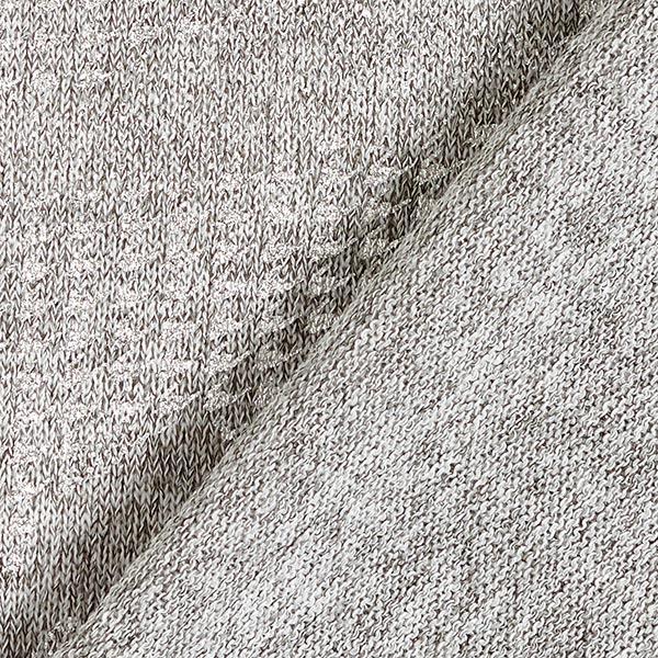 Léger tissu maille metallic Camouflage – gris clair/argent