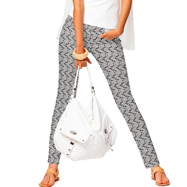 Jacquard d'habillement élastique en diagonale  Abstrait – noir/blanc