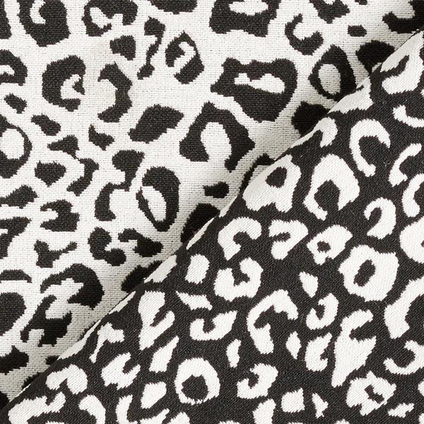 Jacquard d'habillement élastique sur la longueur Motif léopard – noir/écru