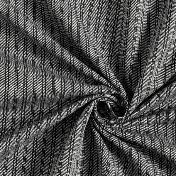 Tissu pour pantalon et costume Mélange viscose Längsstreifen – noir/gris clair