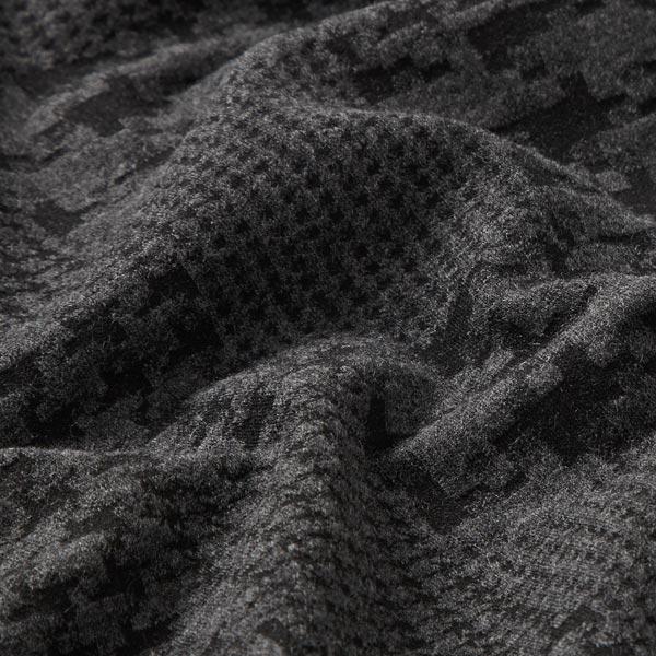 Jersey Jacquard Carreaux pied-de-poule – anthracite/noir