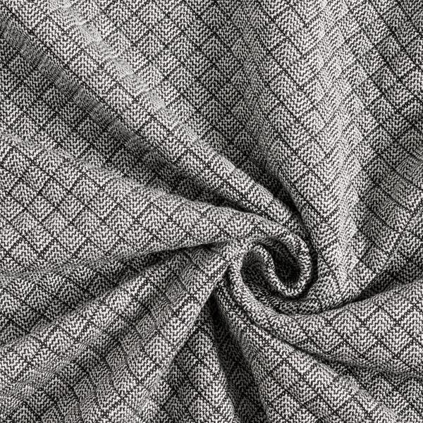 Jersey Jacquard Motif losanges – noir/blanc