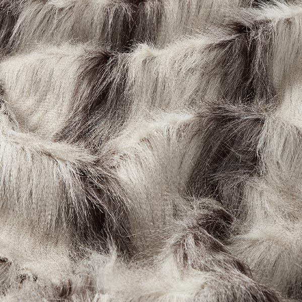 Fourrure synthétique Bela – marron foncé/gris clair