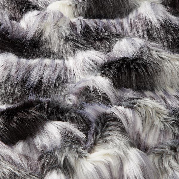 Fourrure synthétique Bono – noir/blanc