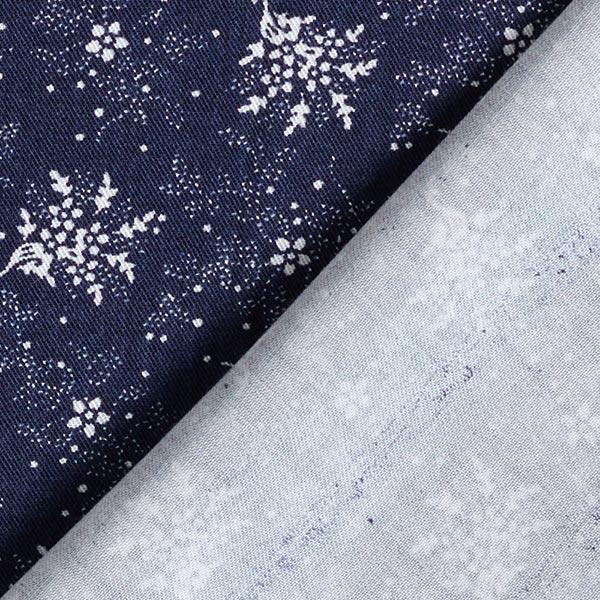 Tissu de chemisier viscose paradis des fleurs – bleu marine
