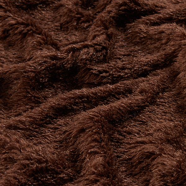 Tissu maille Look peluche – chocolat