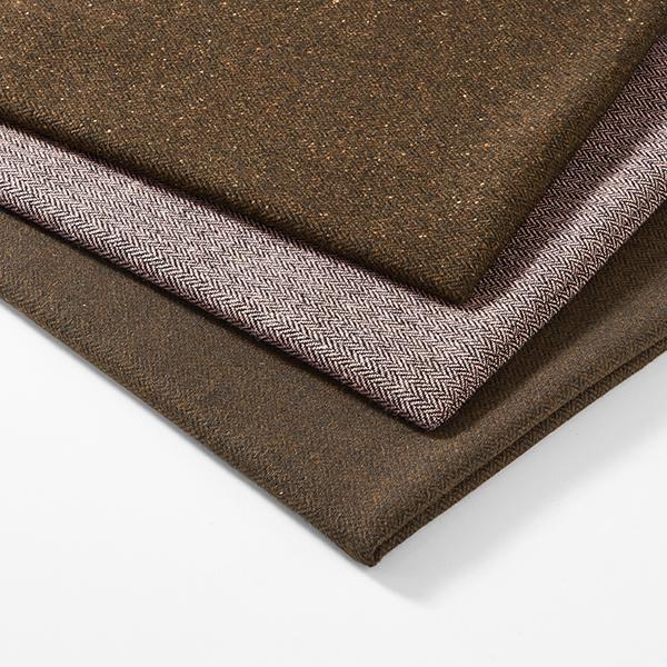 Tissu pour manteau Mélange de laine Motif chevron – rose/noir